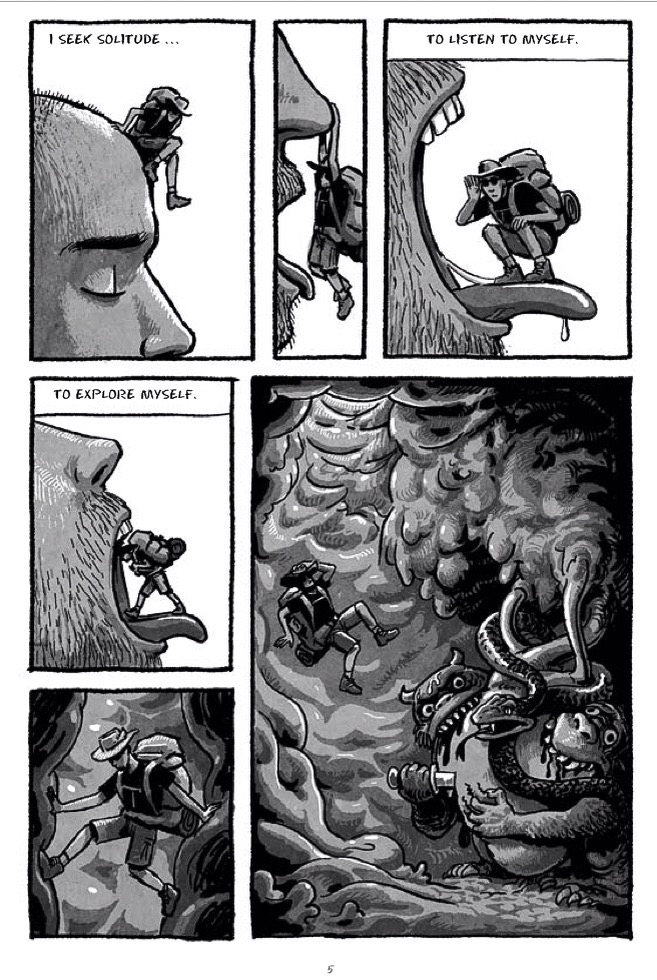 Page 5 from graphic novel The Salty River