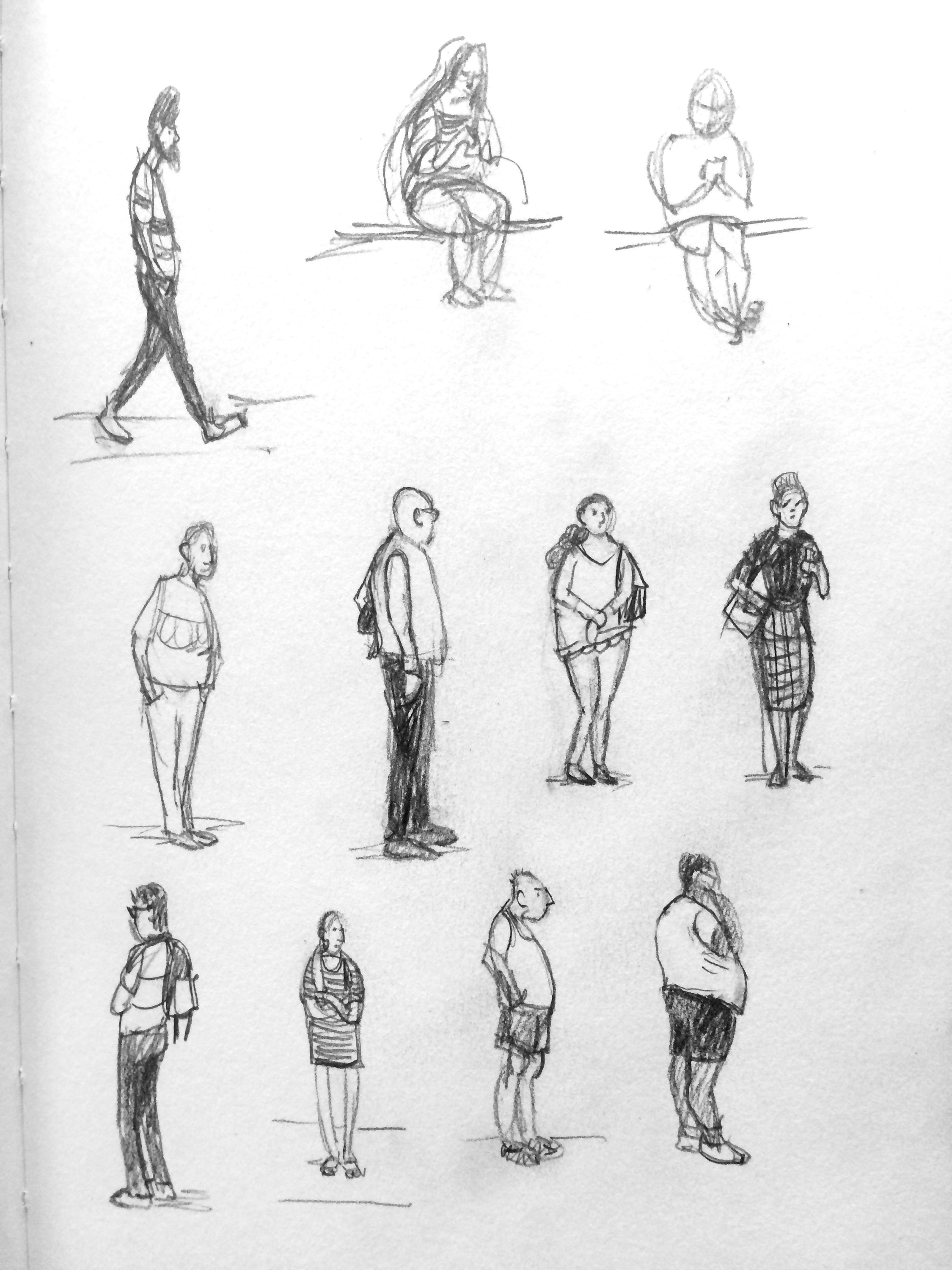 quick sketches of people